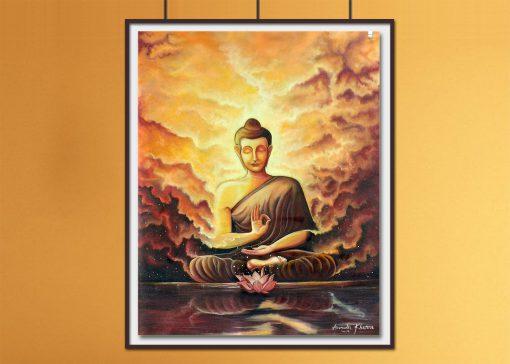 buddha oil painting