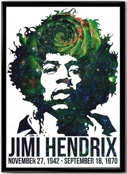 Jimi Hendrix Graphic Poster