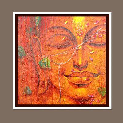 Budha oil painting