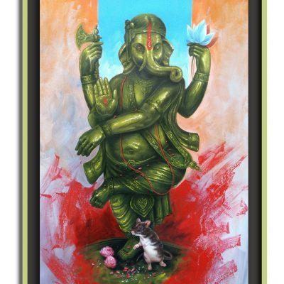 Ganesha Acrylic Painting