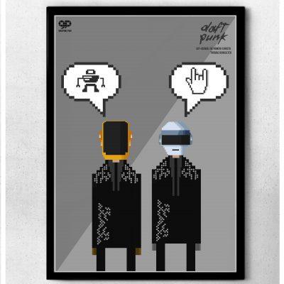 batman pixel poster