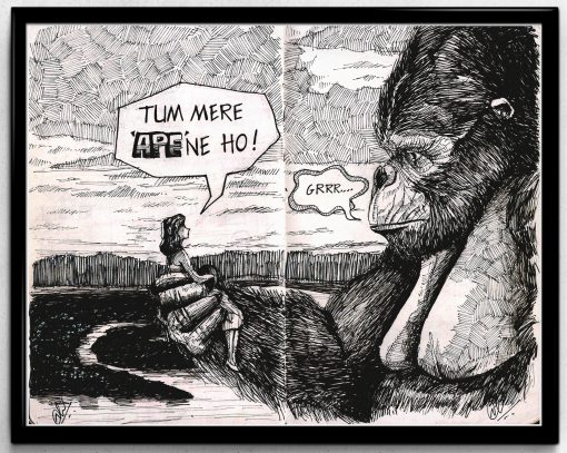 ape-monkey carigature