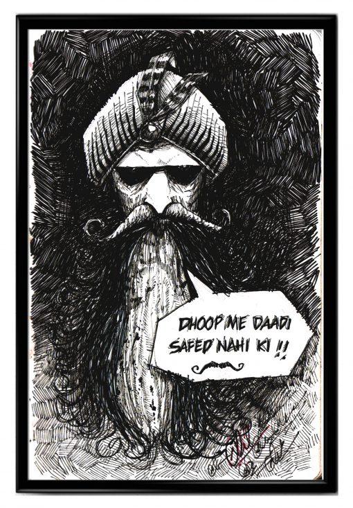 old man caricature