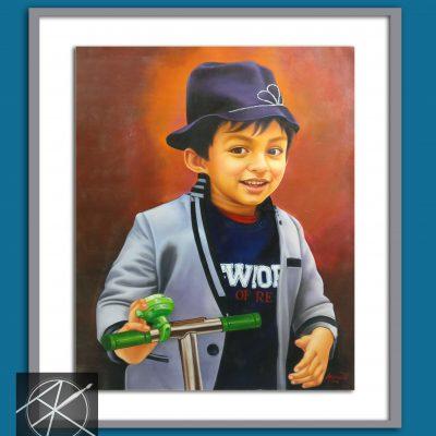 boy portrait painting