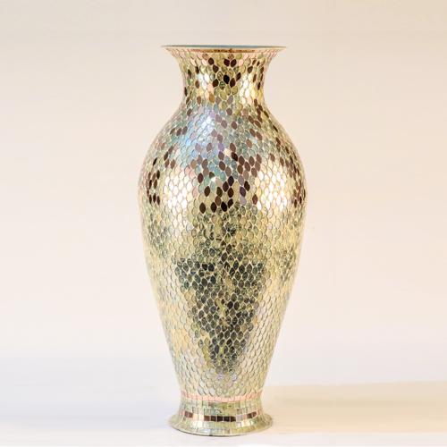 hony comb mosaic vase