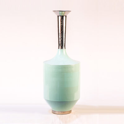 Mini Green Metal Vase