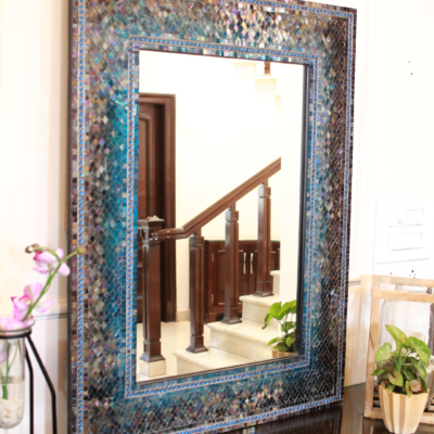 Mosaic Framed Mirror