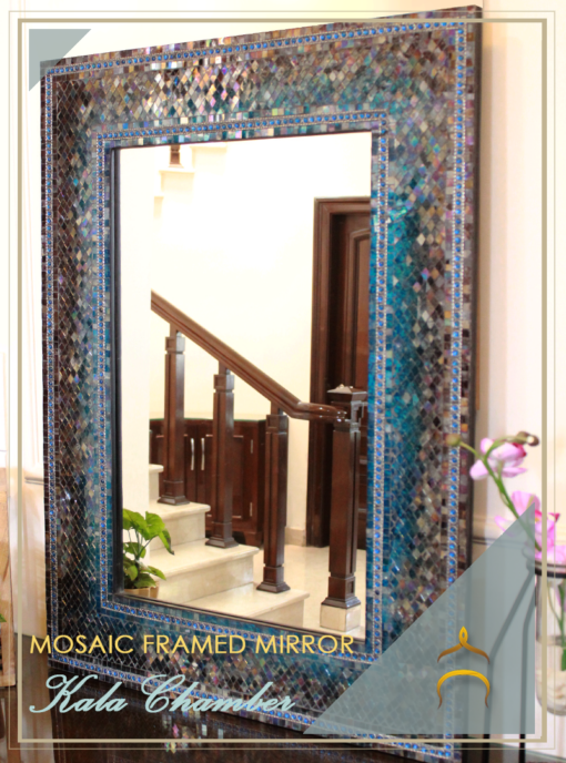 Mosaic Framed Mirror