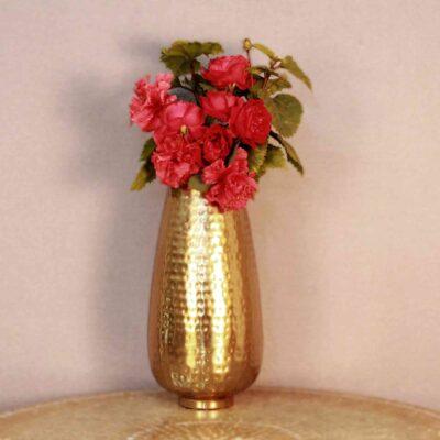 Hammered Style Flower Vase